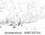 metal texture with scratches... | Shutterstock . vector #698710714