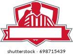 illustration of a referee... | Shutterstock . vector #698715439