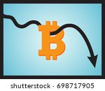 downtrend line arrow breaking... | Shutterstock .eps vector #698717905