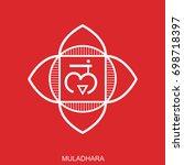 muladhara. chakra vector... | Shutterstock .eps vector #698718397