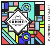 abstract geometric summer... | Shutterstock .eps vector #698721547