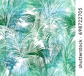 tropical background seamless... | Shutterstock .eps vector #698722705