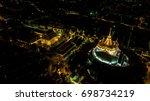 'golden mountain '  wat saket... | Shutterstock . vector #698734219