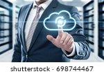 backup storage data internet... | Shutterstock . vector #698744467