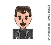 businessman profile cartoon
