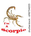 Small photo of A simple bitmap illustration of the Zodiac Sign Scorpio