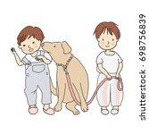 vector illustration of little... | Shutterstock .eps vector #698756839