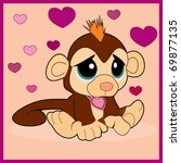 gloomy monkey | Shutterstock .eps vector #69877135