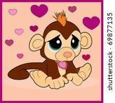 gloomy monkey | Shutterstock .eps vector #69877135