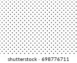 black polka dots on white... | Shutterstock .eps vector #698776711