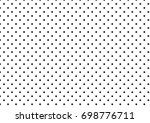 black polka dots on white... | Shutterstock .eps vector #698776711