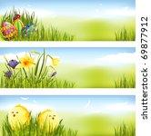 easter banner set | Shutterstock .eps vector #69877912