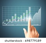 investment concept businessman... | Shutterstock . vector #698779189