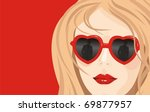 valentine's card the beautiful... | Shutterstock .eps vector #69877957