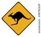 australian kangaroo crossing... | Shutterstock .eps vector #698782639