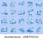 bitcoin conceptual design | Shutterstock .eps vector #698793151