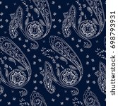 ornamental paisley pattern ... | Shutterstock . vector #698793931