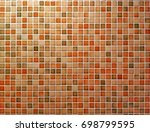 colorful bricks including white ... | Shutterstock . vector #698799595
