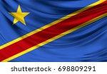 flag of congo democratic 3d... | Shutterstock . vector #698809291