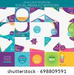 multipurpose social media kit... | Shutterstock .eps vector #698809591