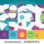 multipurpose social media kit... | Shutterstock .eps vector #698809591