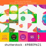 multipurpose social media kit... | Shutterstock .eps vector #698809621
