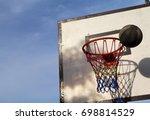 basketball game outdoor... | Shutterstock . vector #698814529
