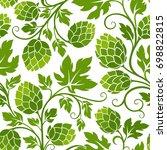 hop seamless pattern.... | Shutterstock .eps vector #698822815