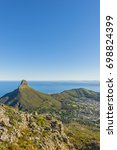 cape town table mountain view... | Shutterstock . vector #698824399