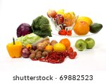 composition of several fruits... | Shutterstock . vector #69882523