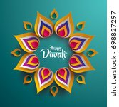 happy diwali. paper graphic of... | Shutterstock .eps vector #698827297