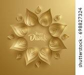 happy diwali. paper graphic of... | Shutterstock .eps vector #698827324