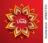 happy diwali. paper graphic of... | Shutterstock .eps vector #698827351