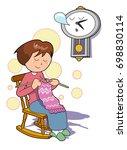 a nap ont the chair | Shutterstock . vector #698830114