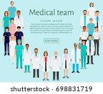medical team. group doctors ... | Shutterstock . vector #698831719