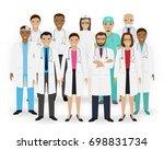 doctors  nurses and paramedics...   Shutterstock . vector #698831734