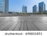 empty brick floor with modern... | Shutterstock . vector #698831851