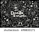 big set of romantic style hand... | Shutterstock .eps vector #698833171
