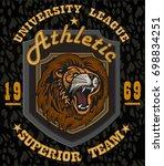 brave lion   Shutterstock .eps vector #698834251