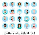 avatars characters doctors and... | Shutterstock . vector #698835121