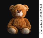 cute teddy bears on black ...   Shutterstock . vector #698839441