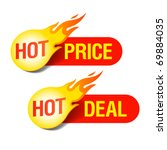 hot price and hot deal labels.... | Shutterstock .eps vector #69884035