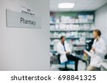 pharmacists at the hospital...   Shutterstock . vector #698841325