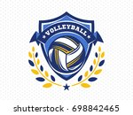 volleyball logo  emblem  icons  ... | Shutterstock .eps vector #698842465