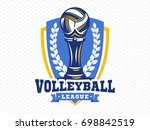 volleyball league logo  emblem  ... | Shutterstock .eps vector #698842519