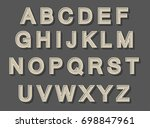 stylish vintage alphabet.... | Shutterstock .eps vector #698847961