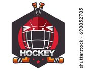 ice hockey badge  logo  emblem...   Shutterstock .eps vector #698852785