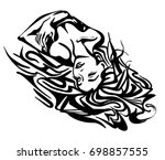 vector graphic with beautiful...   Shutterstock .eps vector #698857555