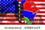 nafta   american trade... | Shutterstock . vector #698861629