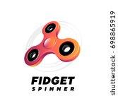fidget spinner on white... | Shutterstock .eps vector #698865919